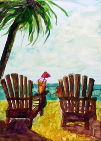 Final Painting-a-tropical chairs