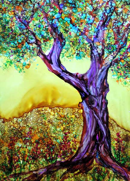 Trees Alcohol Ink Tips