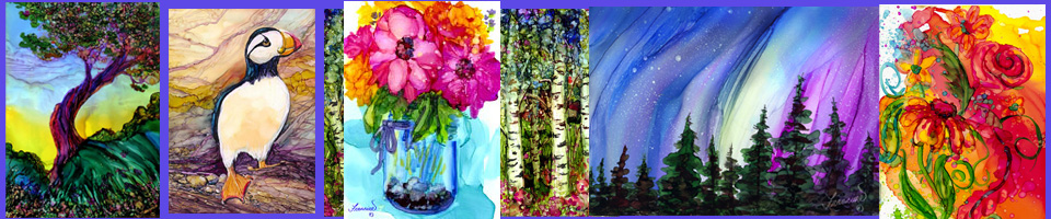 Alcohol Ink Tips - with Francine Dufour Jones